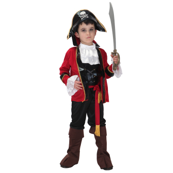 EOZY Halloween Party Supplies Pirate Cosplay Boy Clothing HalloweenCostume For Kids Children Christmas Costumes -L