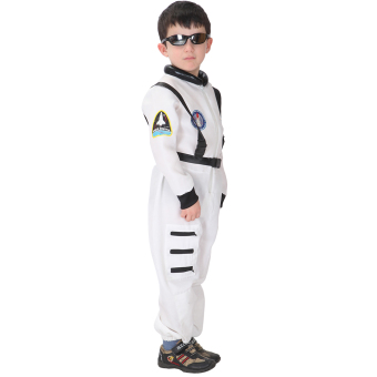 EOZY Kids Astronaut Costume Child Profession Cosplay Outfit Boys Fantasia Halloween Fancy Dress -M (White) - 5