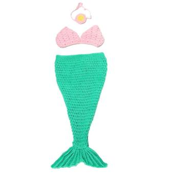 Eozy Knitted Photography Props Mermaid Style Crochet Costume Baby Infant Clothing For Taking Photos .