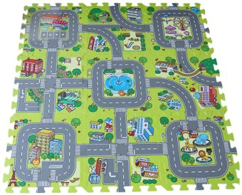 EOZY Soft EVA Foam Baby Kids Play Mat Traffic Route Puzzle FloorMat - intl Price Philippines