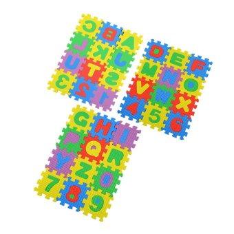 ERA Colorful Puzzle Kid Educational Toy A-Z Alphabet Letters Numeral Foam Mat (Intl)