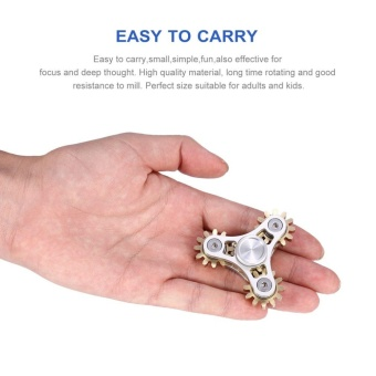 ERA Exquisite Stress Reducer Finger Toy Tri-spinner Hand FidgetSpinner With Gears - intl - 4