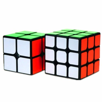 Ever Speed 2x2 and 3x3 Rubik's Cube Bundle Set Black