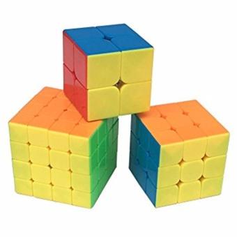 EverSpeed 2x2, 3x3, 4x4 Speed Rubik's Cube Bundle Set RedStickerless - 3