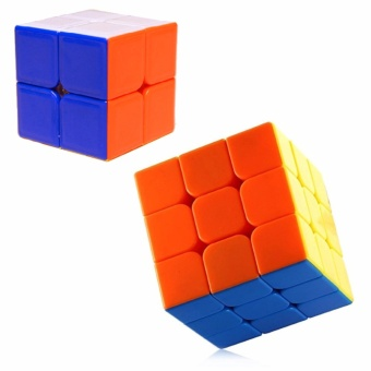 EverSpeed 2x2, 3x3 Red Stickerless Speed Rubik's Cube Bundle Set