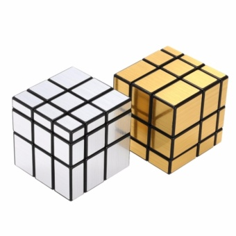 EverSpeed Silver and Gold 3x3 Mirror Speed Rubik's Cube Bundle SetBlack Body