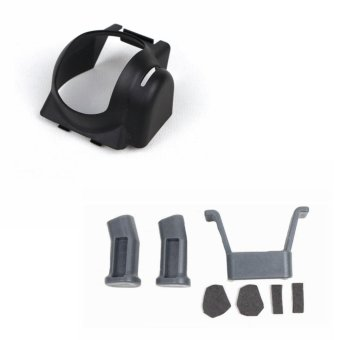 Extended Landing Gear Bracket Guard Protector Grey and Camera LensProtector Gimbal Black for DJI Mavic Pro - intl