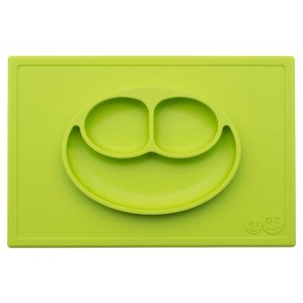 EZPZ Happy Mat (Lime) Silicone Placemat + Plate