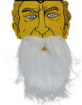 Fancy Dress Pirate Dwarf Elf Fake Beards (White) - picture 2