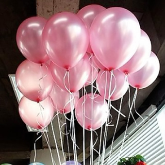 Fancytoy Hot 100pcs 10 inch Colorful Pearl Latex Balloon for Party Wedding Birthday (Pink)