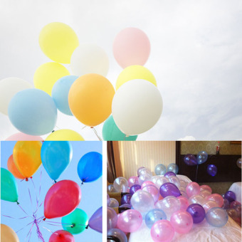 Fancytoy Hot 100pcs 10 inch Colorful Pearl Latex Balloon for PartyWedding Birthday (White)