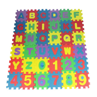Fang Fang 36pcs Mini Alphabet Numeral Foam Mat Puzzle ChildrenEducational Toy