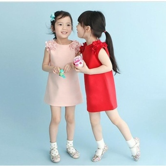 Fashion Girl's Dress Cotton Lovely Summer Dress For 2-7 Years Old Children - Pink - intl - 2