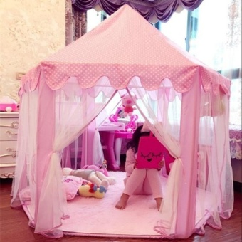 Fashion New Portable Princess Castle Play Tent Activity Fairy House Fun Indoor Outdoor Playhouse Toy - intl