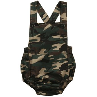 Fashion Newborn Toddler Boy Girls Siamese Clothes Camouflage StyleJumpsuit Bodysuit Infant One Piece Outfit for 6-12 Months Baby SizeM - intl