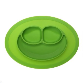 Fashion Silicone Food Plate for Baby(Green) - intl Price Philippines