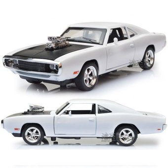 Fast & Furious 7 Dodge Charger Pull Back Toy Cars 1:32 Scale Alloy Diecast Car Model Kids Toys Collection Gift - intl