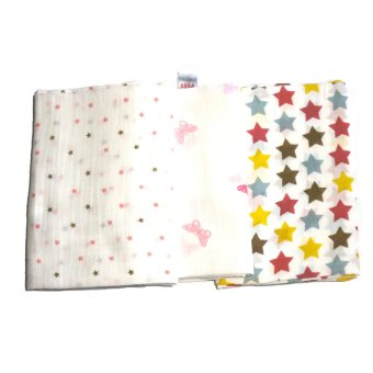 Feo en Rafa Muslin Swaddle Set of 3 (Stars/Butterfly)
