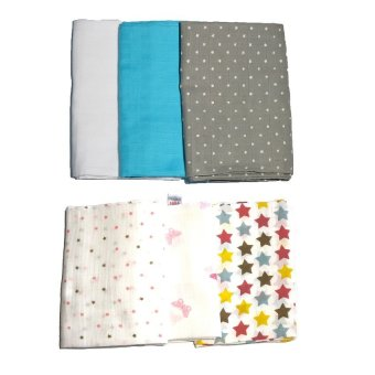 Feo en Rafa Muslin Swaddle Set of 6 (Multicolor)