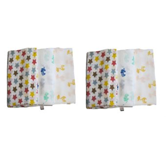 Feo en Rafa Muslin Swaddle (Stars/Elephant/Giraffe) Bundle of 6