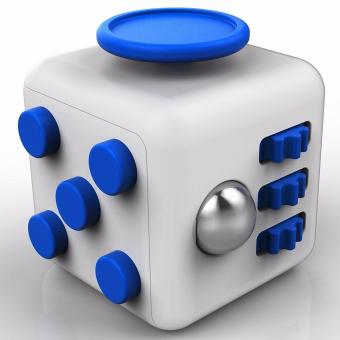 Fidget Cube Stress Reliever for Kids and Adult (blue/white) Price Philippines