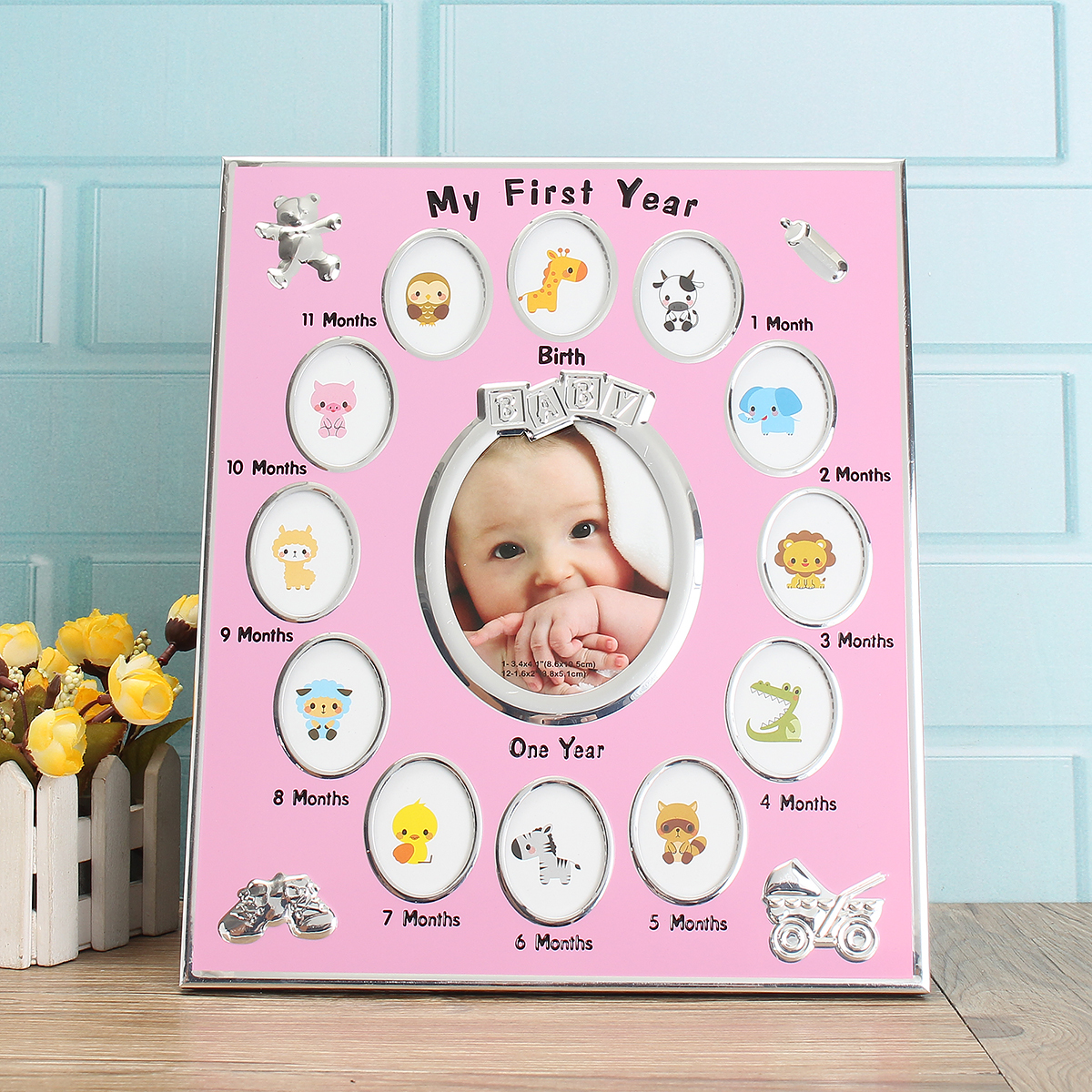 Philippines   First Year Baby Photo Frame Silver Plated 12 Months ...