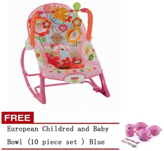 Fisher-Price Infant-to-Toddler Rocker Bunny Free European Childredand Baby Bowl (10 piece set ) Pink
