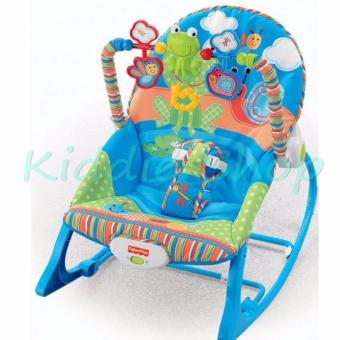 Fisher-Price Infant To Toddler Rocker Frog Design (BLUE)