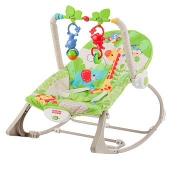 Fisher-Price Rainforest Friends Infant-to-Toddler Rocker (Green)
