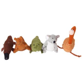 Five Australia Unique Animals Finger Puppets Set - picture 2