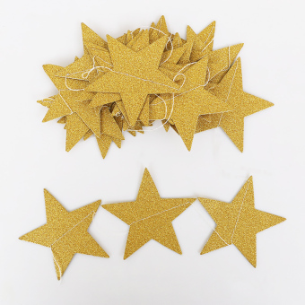 Five Point star Birthday Party banner Ornaments