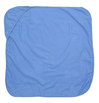 Flannel Blanket With Hood (Blue)