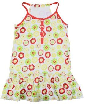 Floral print spaghetti strap dress (Multicolor) - picture 2