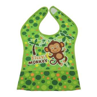 Fold Down Crumb Catcher Monkey Bib