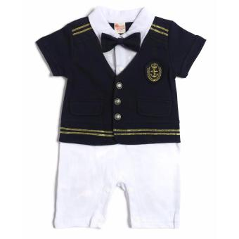 Formal Sailor Romper (Navy/White) for 9 to 12 Months Old