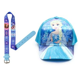 Frozen Elsa Satin Cap & Stretchable Belt