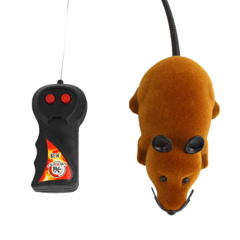 Funny Remote Control RC Wireless 3 Colors Rat Mouse Toy For Novelty Cat Dog (Brown)