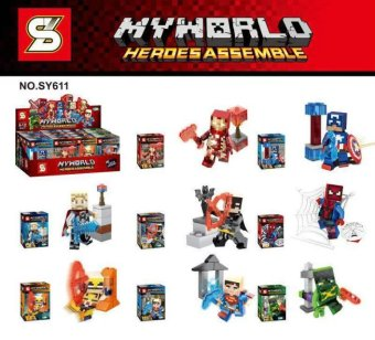 Gangtiexia sy611 World Series puzzle assembled figurine building blocks people