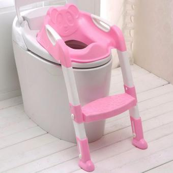 G@Best Baby Potty Training Toilet Chair Seat Step Ladder TrainerToddler - Pink