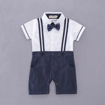 Gentleman spring and summer boy's baby one-piece romper