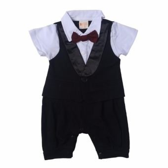 Gentlemen Suit Romper (Black) for Baby 12 to 18 Months Old
