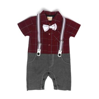 Gentlemen Suit Romper Red for 12 to 18 Months Old