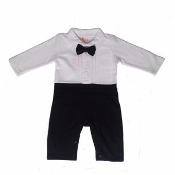 Gentlemen Suit Romper with Coat (Black) For Baby 18 to 24 MonthsOld - 2