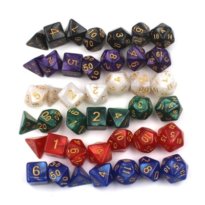 GETEK Details about 7pcs/Set Dice TRPG Games Dungeons & DragonsMulti-sided Dices Colorful - intl