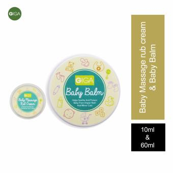 Giga Baby Massage Rub Cream 10g with Baby Balm 60 gms