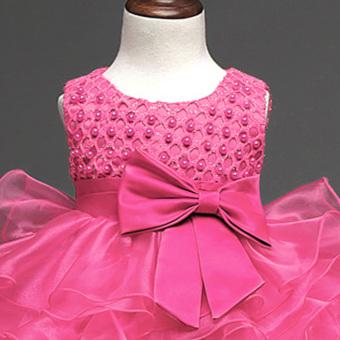 Gir Sleeveless Dress (Rose Red) - intl - 5