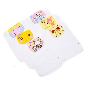 Girls Absorbent Back Towel/Washcloth Pack of 6 - 2