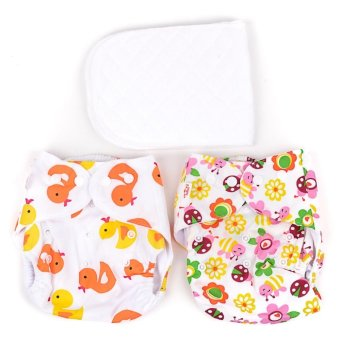 Girl's Cloth Diaper set of 2 with 2 Inserts