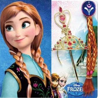 Girls Princess Crown Hair Piece Wand Frozen Cosplay Set 103g