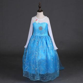 Girls Princess Dress with crown for Children Girls Birthday party dress - 2